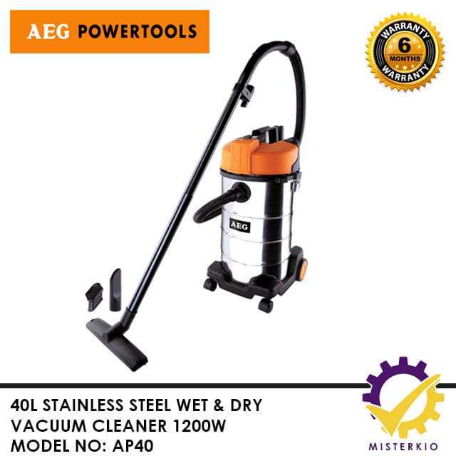 Aeg 40l Stainless Steel Wet And Dry Vacuum Cleaner Ap40