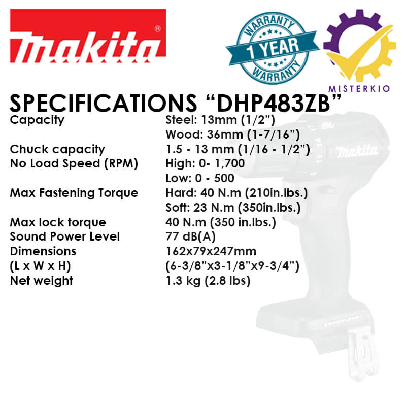 dlx2221b dhp483zb specs