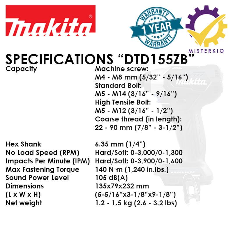 dlx2221b dtd155zb specs